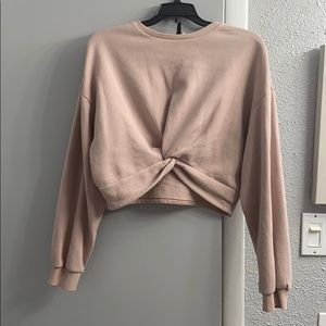 H&M divided cropped sweatshirt
